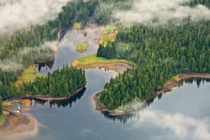 Aerial View of the Tongass National Forest